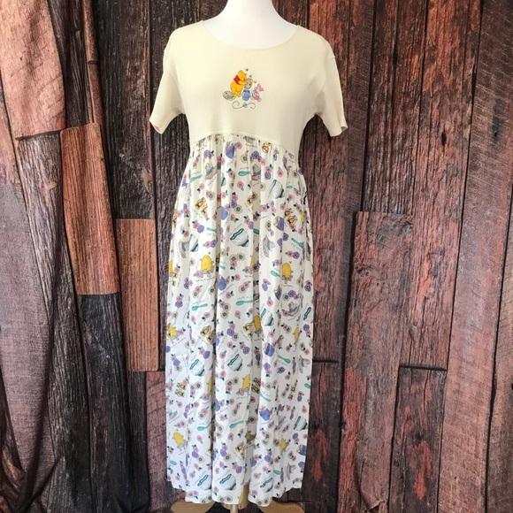 77835361812 VTG Waffle Dress Disney Store Winnie Pooh Grunge
